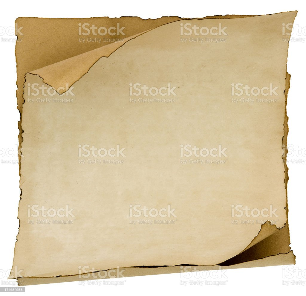 Blank treasure map paper stock photo