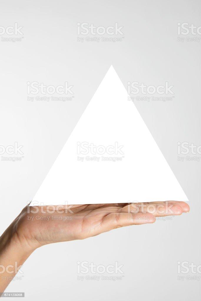 Blank Triangle 免版稅 stock photo