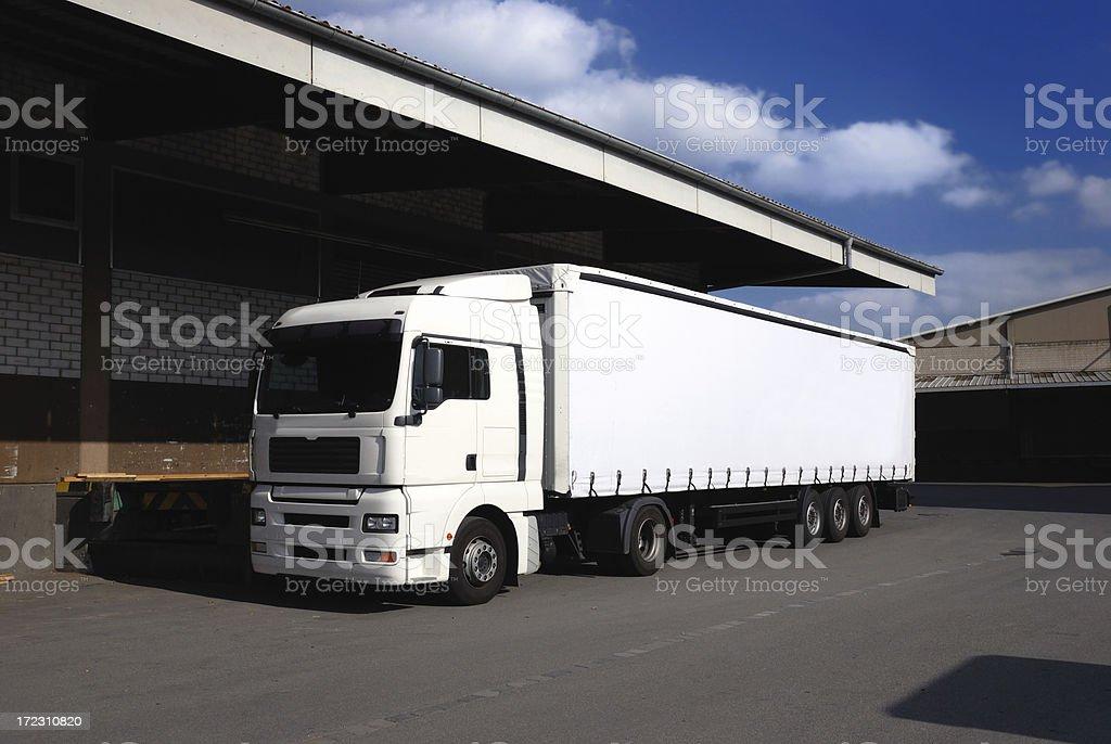 blank truck royalty-free stock photo