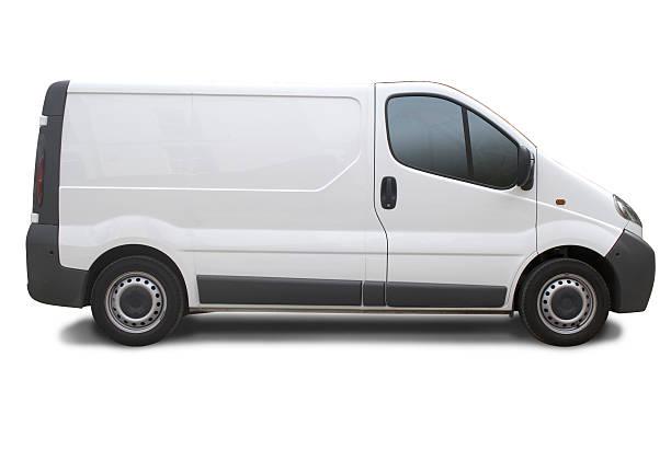 leere truck bereit für das branding - van stock-fotos und bilder