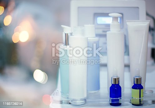 istock Blank tubes of cosmetics products for a oxygen skin treatment. 1193726014