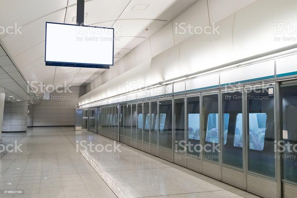 blank tv billboard stock photo