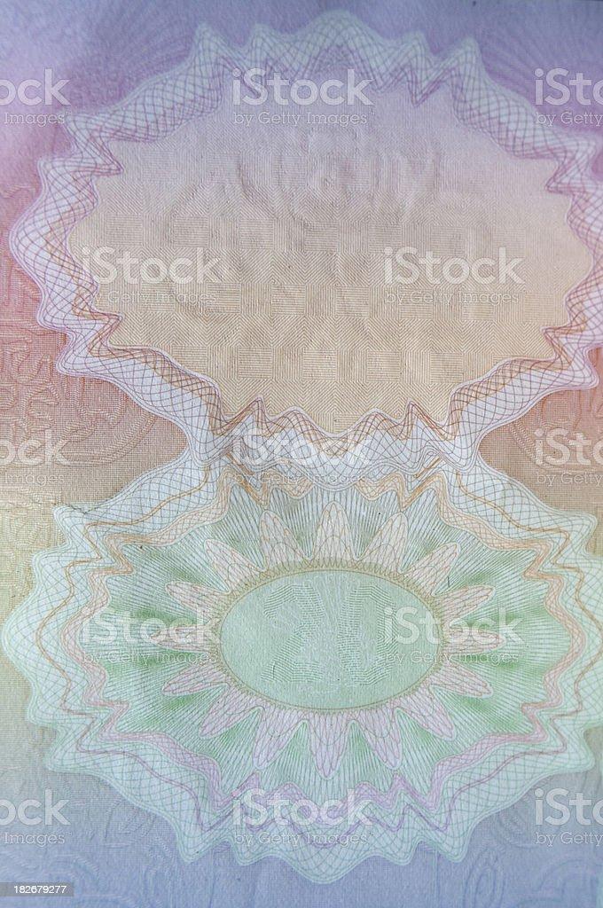 Blank UK Passport Page stock photo