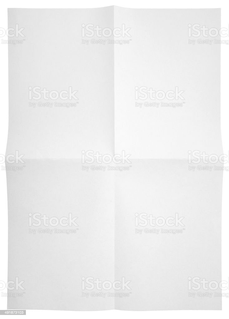 blank unfolded paper used marks grunge stock photo