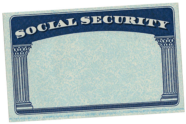 Blank USA Social Security Card High resolution scan of a blank Social Security card that was issued by the United States government. The Social Security card is isolated on white and includes a clipping path. social security stock pictures, royalty-free photos & images