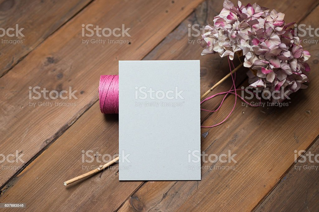 Blank Valentine's Day card or a simple wedding invite. stock photo