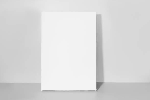 blank vertical canvas. - poster stock pictures, royalty-free photos & images