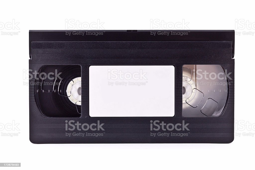 blank vhs tape royalty-free stock photo