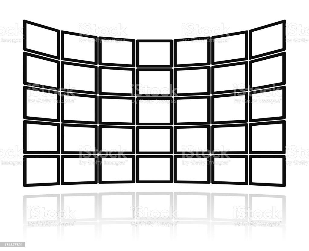 Blank video wall (Clipping path!) background royalty-free stock photo