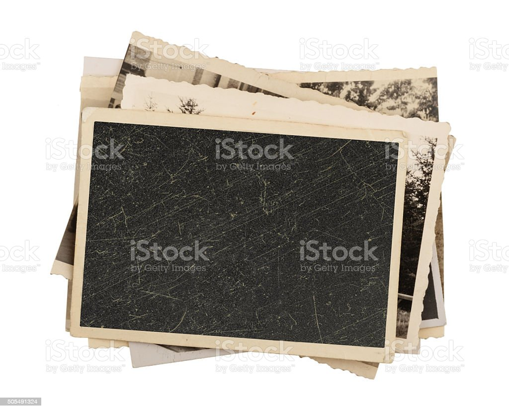 Blank vintage photo paper isolated bildbanksfoto