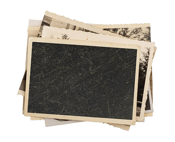 blank vintage photo paper isolated - 復古風格 個照片及圖片檔