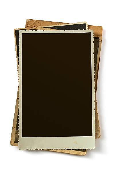 Blank vintage photo stock photo