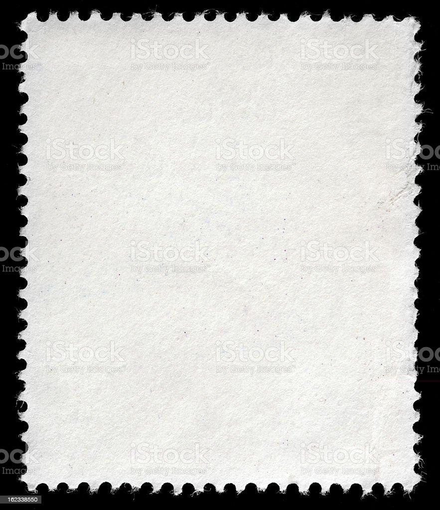 Blank Vintage Postage Stamp, Vertical Format,  Antique Tan Color, Background stock photo