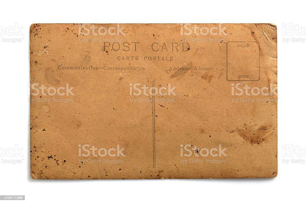 Blank vintage postcard stock photo