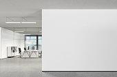 istock Blank wall in modern office 808969678