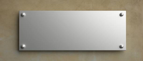 Leere Wand Schild Mockup, 3d-Illustration. Office-Beschilderungsvorlage – Foto