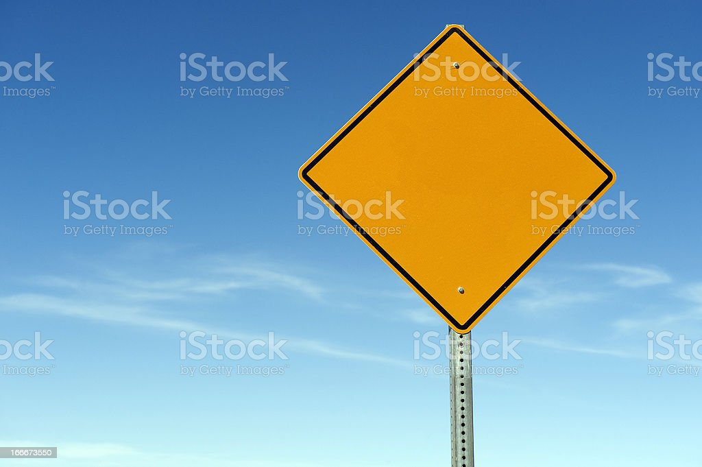 Blank Warning Caution Sign stock photo