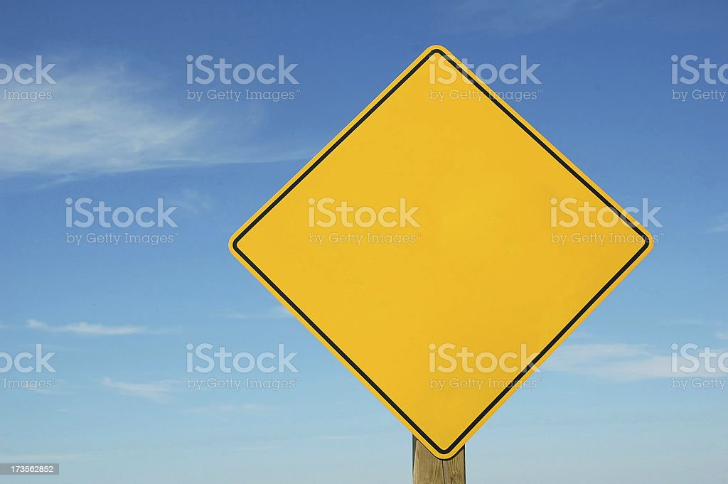 Blank Warning Caution Sign royalty-free stock photo