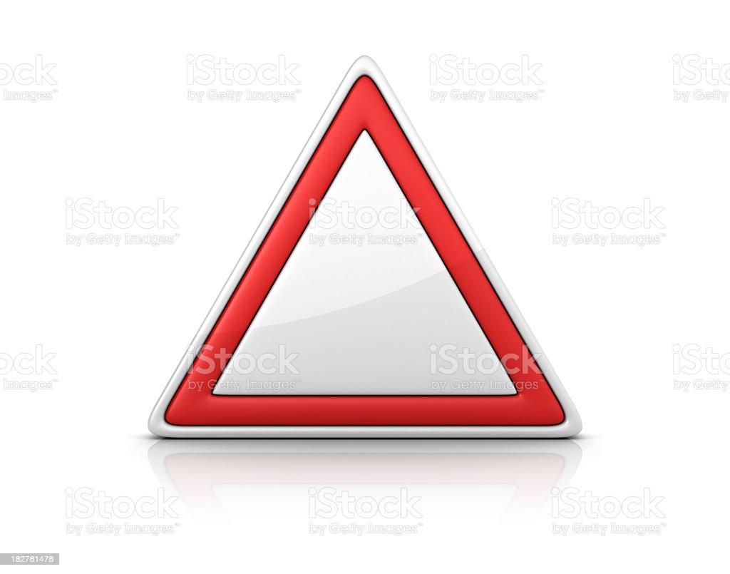 Blank Warning Sign royalty-free stock photo