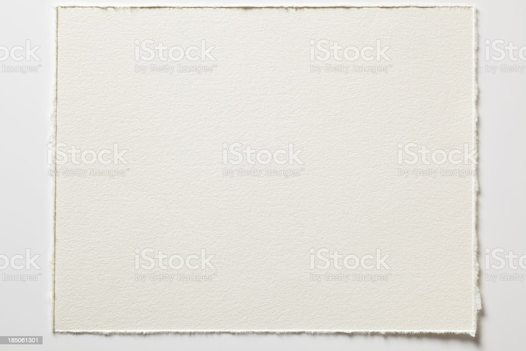 Blank watercolor paper in high resolution stock photo