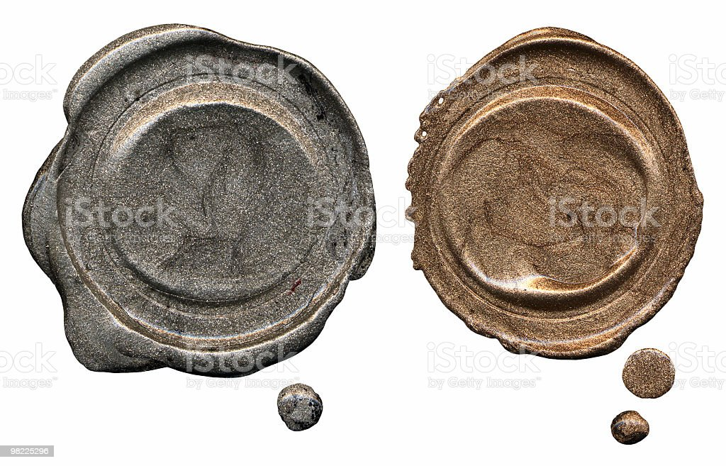Blank Wax Seals royalty-free stock photo