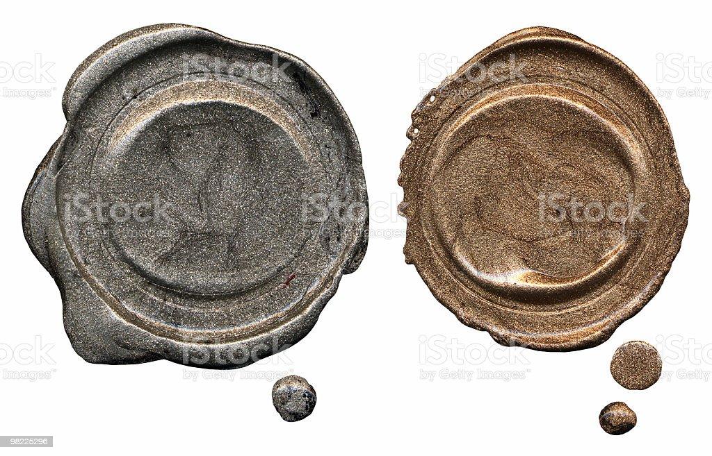 Blank Wax Seals stock photo