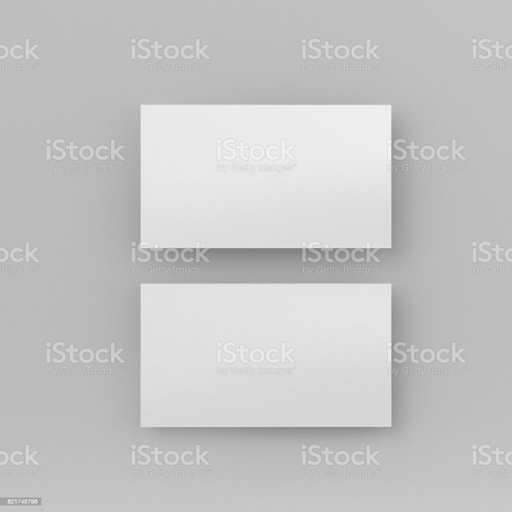 Blank White 3d Visiting Card And Business Card Template 3d Render