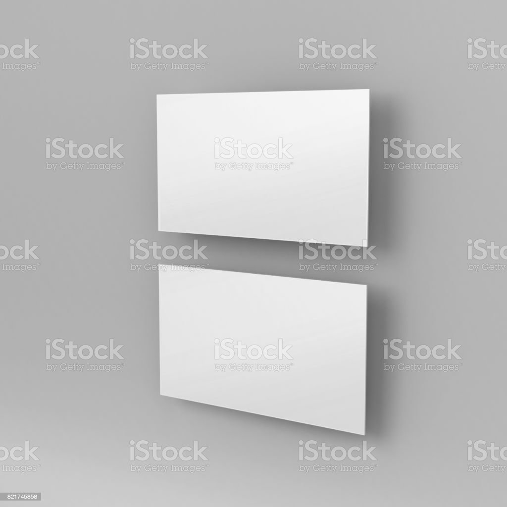 Blank White 3d Visiting Card And Business Card Template 3d Render ...
