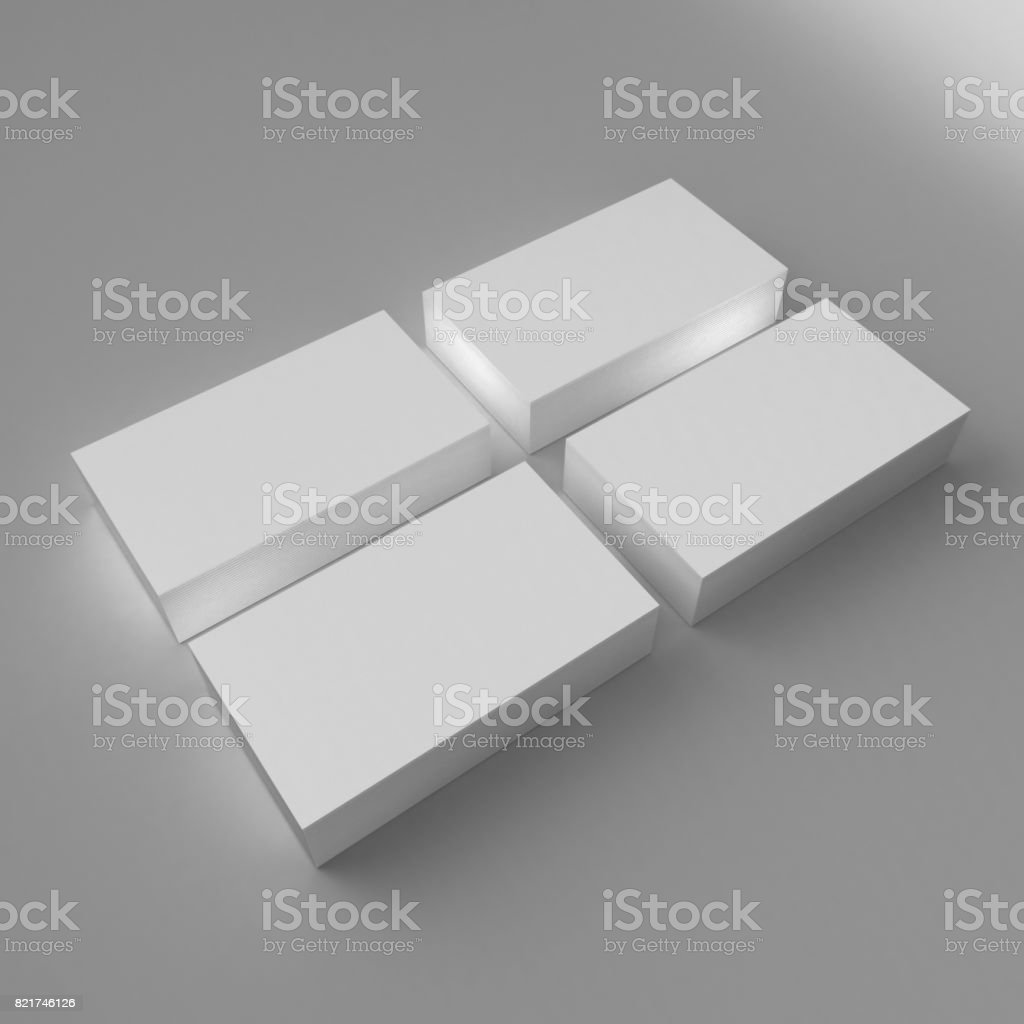 Blank white 3d visiting card and business card template 3d render blank white 3d visiting card and business card template 3d render illustration for mock up and flashek