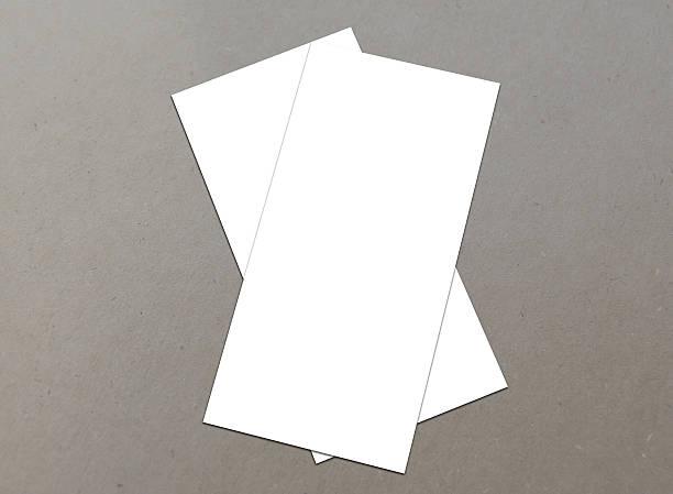 leere weiße 4 x 8 zoll flyer collection – 14 - planner inserts stock-fotos und bilder