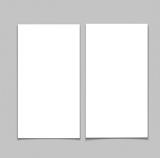 leere weiße 4 x 8 zoll flyer collection – 28 - planner inserts stock-fotos und bilder
