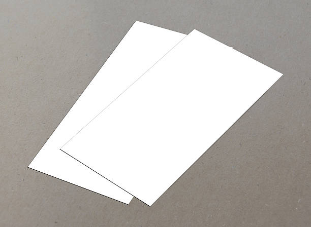 leere weiße 4 x 8 zoll flyer collection – 3 - planner inserts stock-fotos und bilder