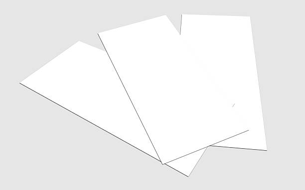 leere weiße 4 x 8 zoll flyer-kollektion - planner inserts stock-fotos und bilder