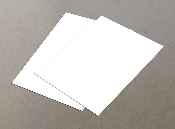 leere weiße 4-flyer-kollektion 23 - planner inserts stock-fotos und bilder