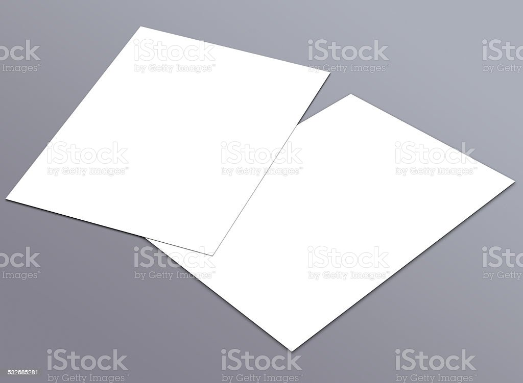 Blank white A4 flyer collection - 12 stock photo
