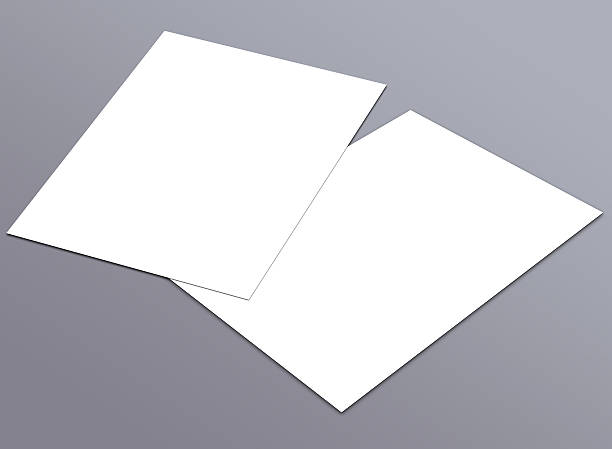 blank white a4 flyer collection - 12 - postcard template stock photos and pictures