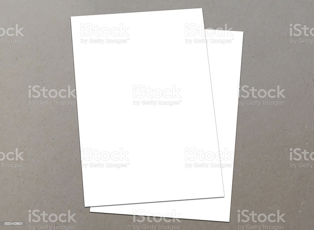 Blank white A4 flyer collection - 17 stock photo