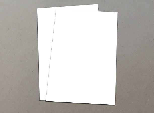 leere weiße a4 flyer-sammlung – 5 - planner inserts stock-fotos und bilder