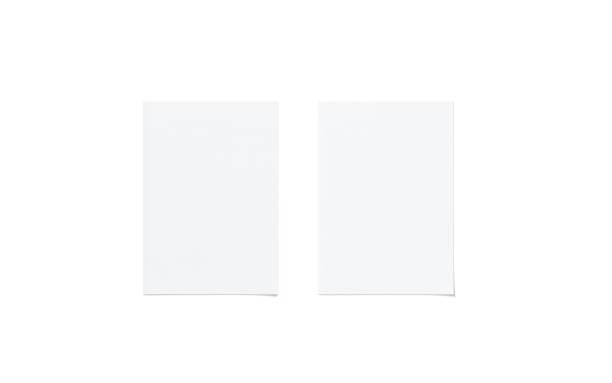a5 blanco blanco volante simulacro conjunto, superior vista - flyer fotografías e imágenes de stock