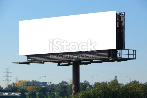 istock A blank white advertisement board on a motorway 158165247