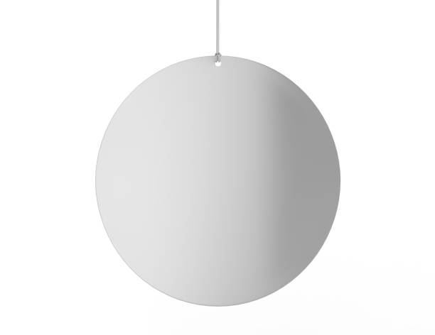 blank white advertising ceiling dangler for design presentation . 3d render illustration. - vinyl banner mockup stock photos and pictures