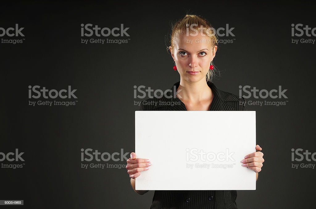 Blank White and Girl royalty-free stock photo