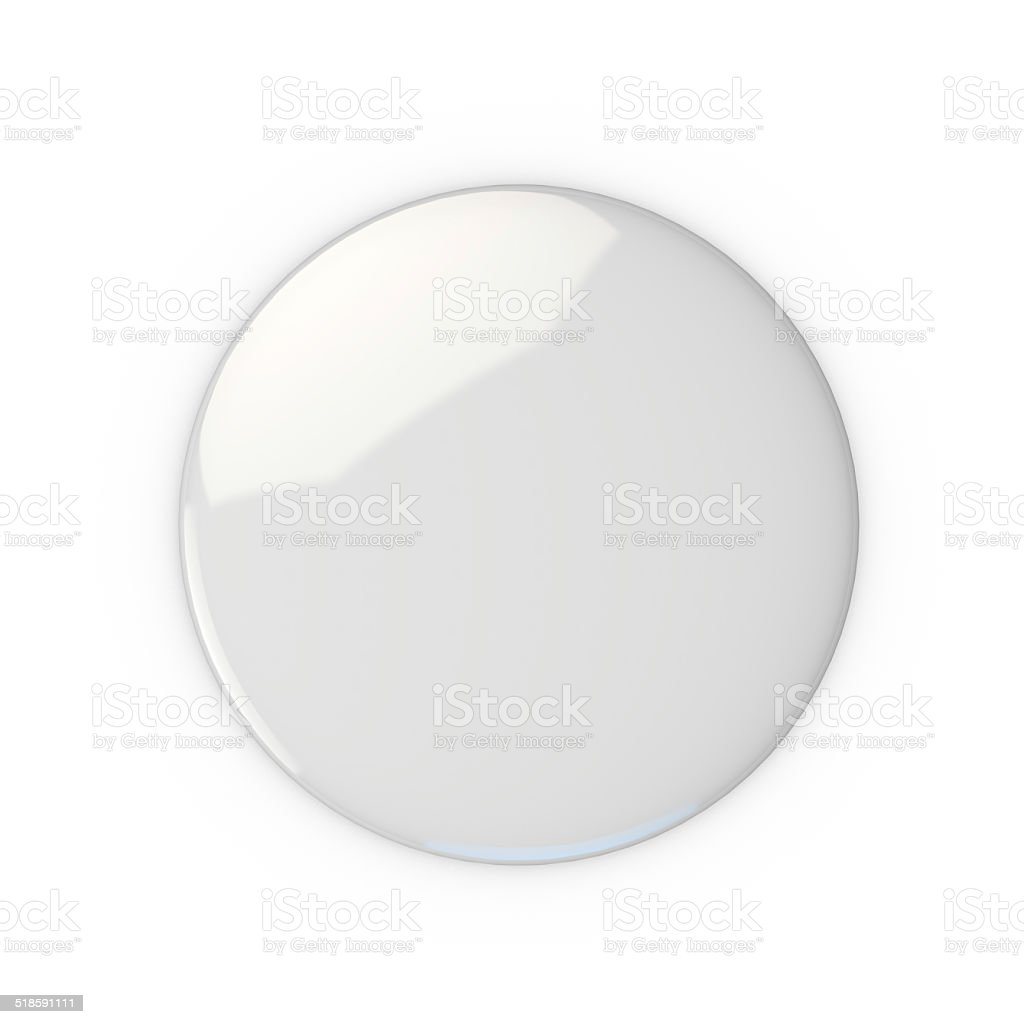 Blank white badge stock photo
