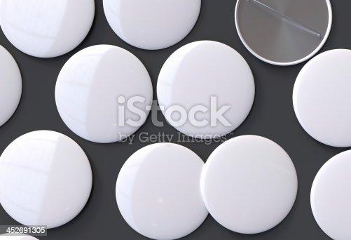 istock Blank white badges 452691305