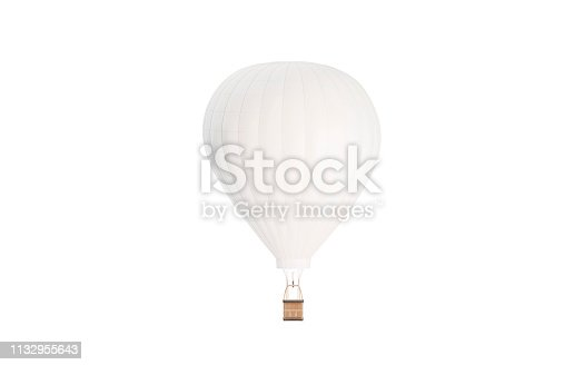 istock Blank white balloon with hot air mockup, isolated 1132955643