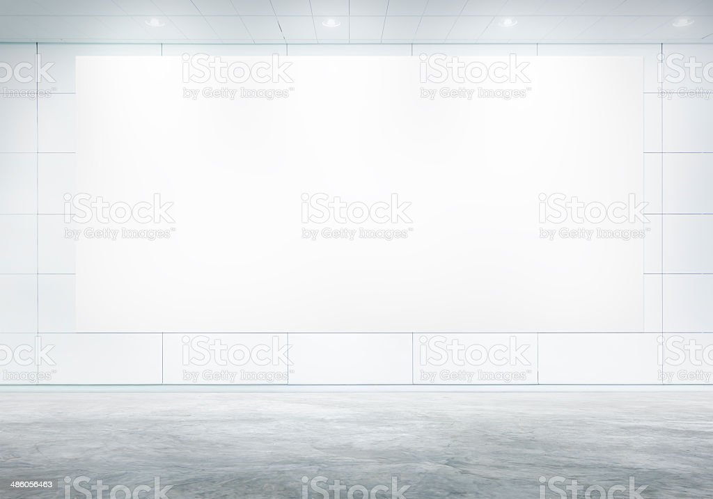 Blank White Billboard In A Board Room stock photo