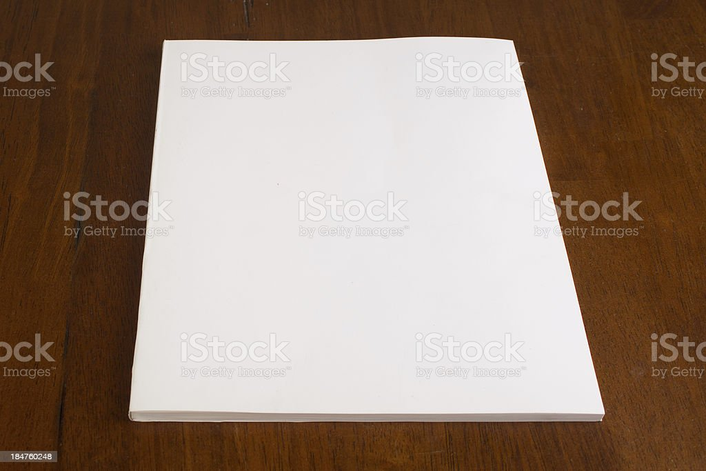 Blank White Book Cover stock photo
