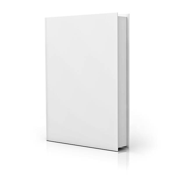 Blank white book cover Blank book cover isolated over white background with reflection. hardcover book stock pictures, royalty-free photos & images