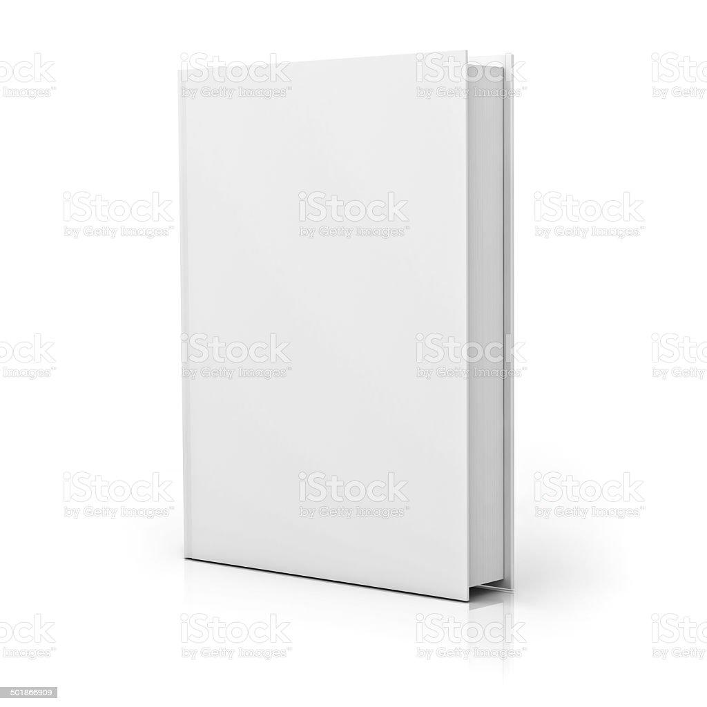 Leere weiße Buch cover – Foto
