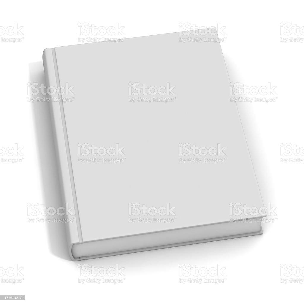 Blank White Book royalty-free stock photo